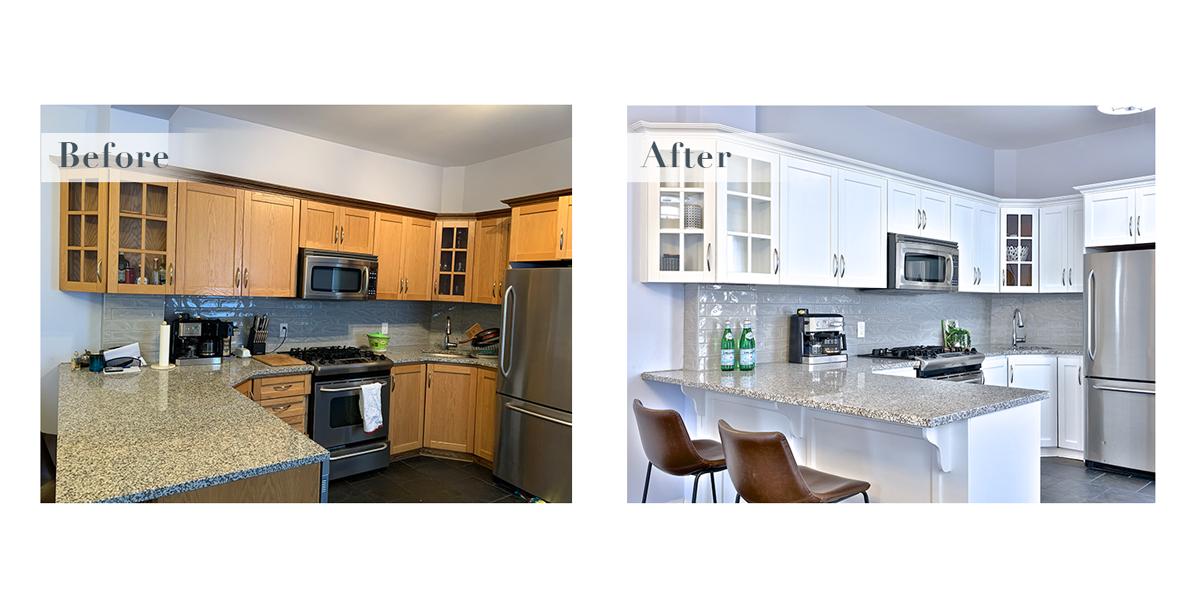 A styled kitchen