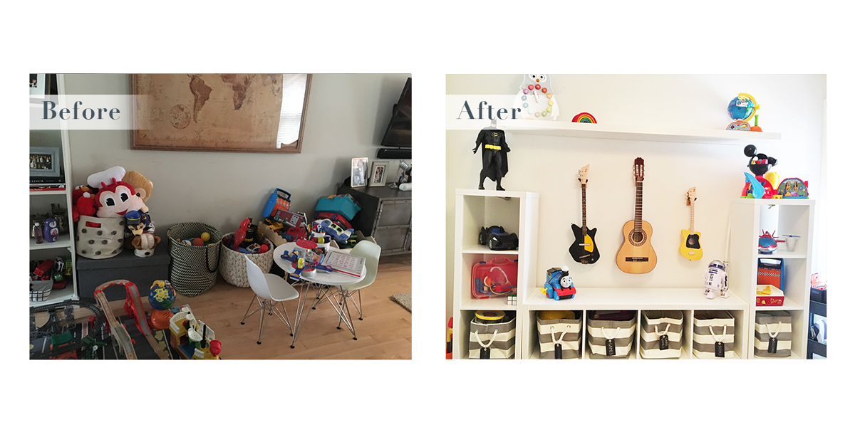 A different section of the organized playroom